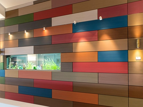 Resysta wall cladding
